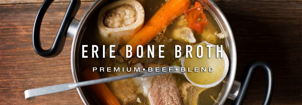 Picture of stock pot with beef bones and vegetables