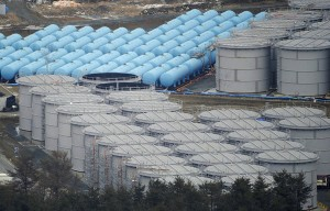 Picture of large tanks holding radioactive water